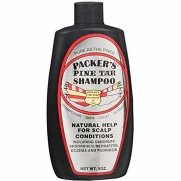 5 Pack Packers Pine Tar Shampoo Natural Help for Scalp Conditions 8 oz Each