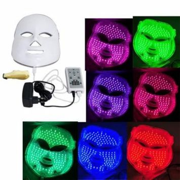 7 Colors LED Photon Skin Rejuvenation Light Therapy Reduces Wrinkles Facial Mask