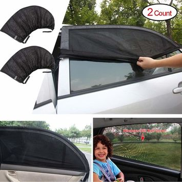 Kaveno Universal Baby Car Side Window Sun Shade (2 Pcs) Premium Breathable Mesh Sun Shield Protect Your Babies and Kids from UV | Easy Fit | Fits Most Models