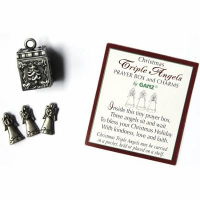 Ganz Christmas Triple Angels Prayer Box and Charms with Story Card