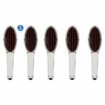 5 Pack Professional Hair Straightening Brush -ION heating technology, Temperature Control