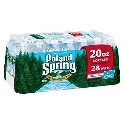 Poland Spring 100% Natural Spring Water (20 oz. bottles, 28 pk.)