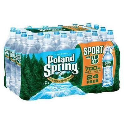 Poland Spring 100% Natural Spring Water (700 ml bottles, 24 pk.) (pack of 2)