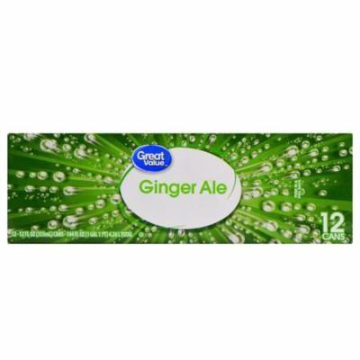 Great Value Ginger Ale, 12 fl oz, 12 Count