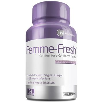 FEMME-FRESH™ Boric Acid Vaginal Suppositories - Feminine Health Support & pH Balance - Prevents Yeast Infections, Alleviates Pain and Discomfort. Made in USA – 24 Delicate Suppositories