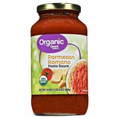 Great Value Organic Parmesan Romano Pasta Sauce, 24 oz