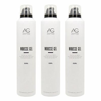"""AG Hair Curl Mousse Gel Extra-Firm 10oz """"Pack of 3"""""""