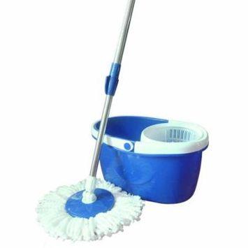 Zimtown Magic Microfiber Mop with Bucket 2 Spining Heads Rotating 360Easy Floor Swob