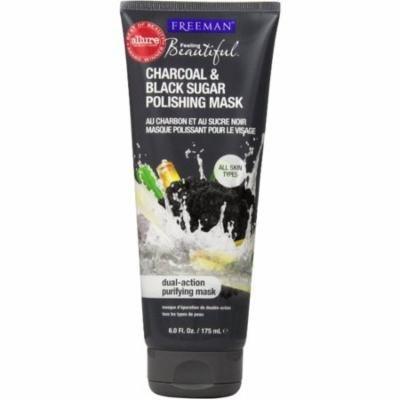 6 Pack - Freeman Feeling Beautiful Facial Polishing Mask, Charcoal & Black Sugar 6 oz