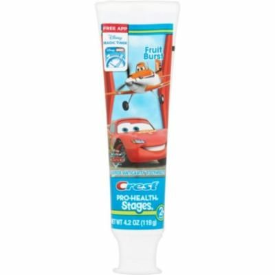 4 Pack - Crest Pro-Health Stages The World of Cars Toothpaste Fruit Burst 4.20 oz