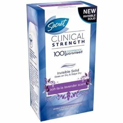 Secret Clinical Strength Invisible Solid Antiperspirant & Deodorant, Ooh-La-La Lavender 1.60 oz
