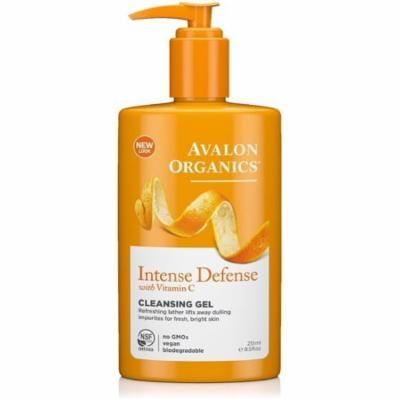 6 Pack - Avalon Organics Intense Defense with Vitamin C Cleansing Gel 8.50 oz
