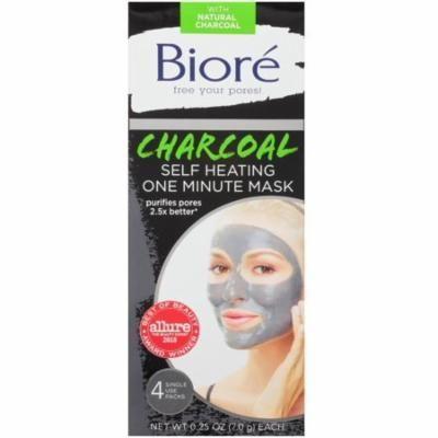 Biore Self Heating One Minute Mask 4 ea