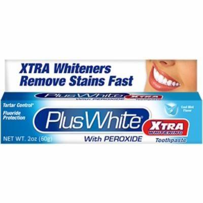 6 Pack - Plus White Whitening Toothpaste Xtra Whitening With Peroxide 2 oz