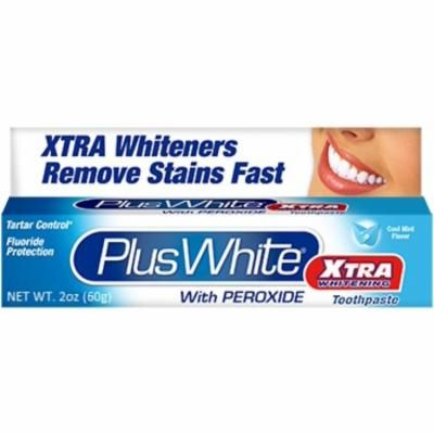 4 Pack - Plus White Whitening Toothpaste Xtra Whitening With Peroxide 2 oz