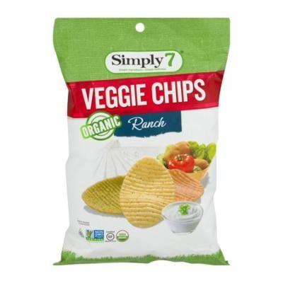 Simply7 Organic Ranch Veggie Chips, 4 oz