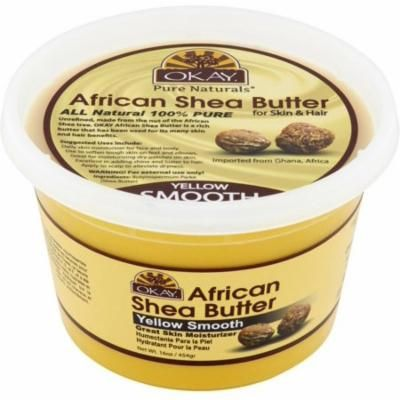 Okay Pure Naturals Shea Butter Yellow Smooth, 16 oz