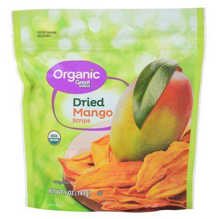 Great Value Organic Dried Mango Strips, 5 Oz.