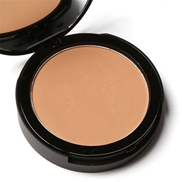 Eshion 3 Colors Highlighter Shimmer Face Pressed Powder Bronzer with Mirror+Puff