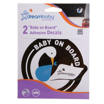 Dreambaby Baby on Board Adhesive Stork 2 Pack - Blue