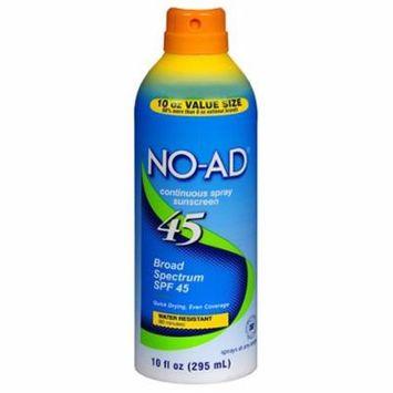 No-Ad Continuous Spf 45 Spray Sunscreen - 10 Oz, 6 Pack