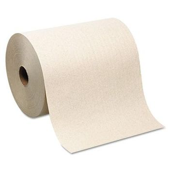 Hardwound Roll Paper Towel, Nonperforated, 7.87 x 1000ft, Brown, 6 Rolls/Carton, Sold as 1 Carton, 6 Roll per Carton