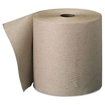 Nonperforated Paper Towel Rolls, 7 7/8 x 800ft, Brown, 6 Rolls/Carton, Sold as 1 Carton, 6 Roll per Carton