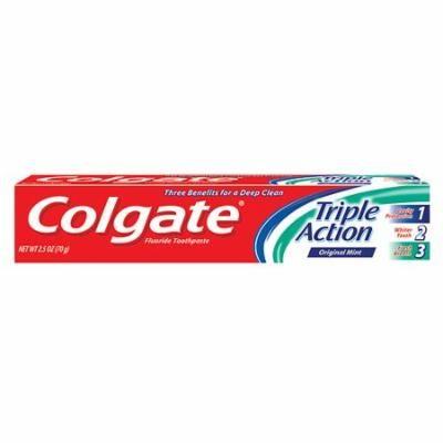 Colgate Triple Action Toothpaste, Original Mint, 2.5 oz