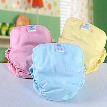 Sealive Pure Cotton Baby Cloth Diaper Cover Baby Nappy Waterproof Breathable Bag 3 Sizes 3 Colors Washable Adjustable Breathable Cloth Diaper for 0-6 Months Baby Boys and Girls