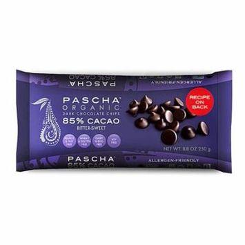 Pascha Organic Dark Chocolate Chips 85% Cacao Bittersweet Chocolate -- 8.8 oz pack of 2