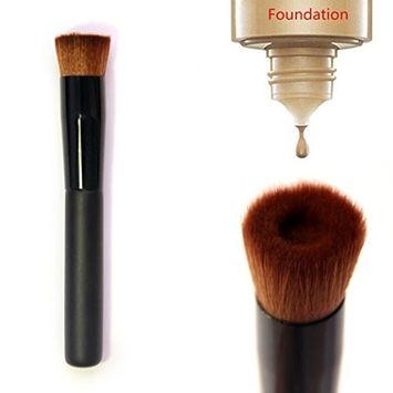 Best Foundation Brush Flat Top Face Brush Applicator Blender for Liquids, Creams, Contour, Powders