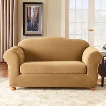 Sure Fit Stretch Pique 2-pc. Sofa Slipcover