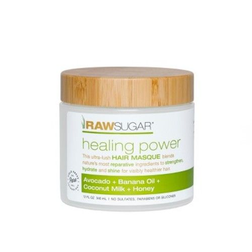 Raw Sugar Avocado + Banana Oil + Coconut Milk + Honey Hair Masque - 12 fl oz