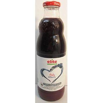 Elite Naturel Cold Pressed Only Bilberry 100% Juice 23.7 oz. Bottle pack of 2