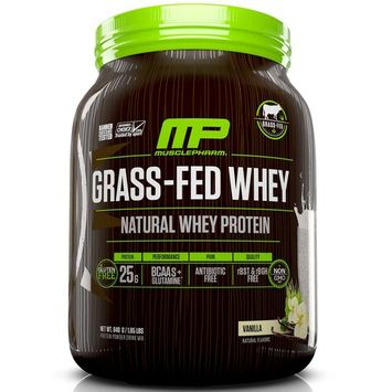 MusclePharm Natural, Grass-Fed Whey, Natural Whey Protein Powder Drink Mix, Vanilla, 1.85 lbs (840 g)