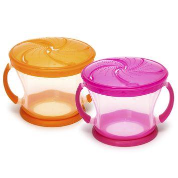 Munchkin Snack Catchers 2-Pack - Pink/Orange