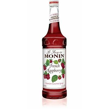 Monin - French Raspberry Syrup, Sweet and Tart Raspberry Flavor, Great for Hot Lattes, Cocoas, Mochas, Iced Cocktails, Gluten-Free, Vegan, Non-GMO (750 ml)