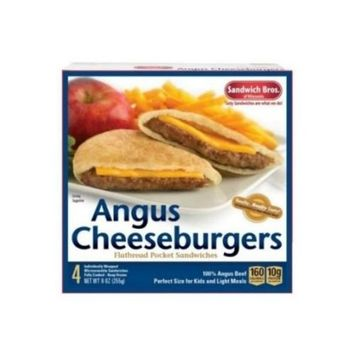 Sandwich Brothers Angus Cheeseburger, 9 Ounce - 6 per case.