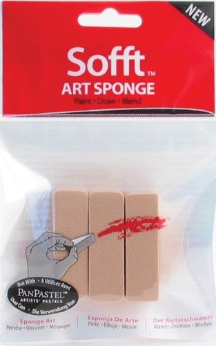 Colorfin - Sofft Tools - Art Sponges - Flat Sponge Bar (3/Pkg.)