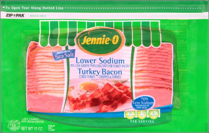 Jennie-O Turkey Store Turkey Bacon With Sea Salt
