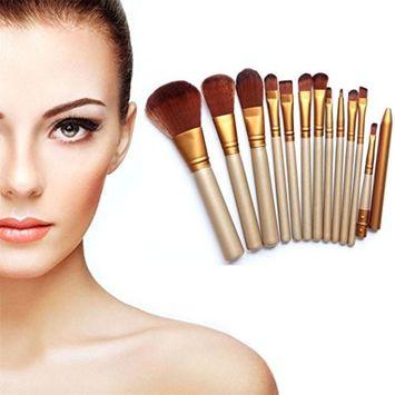 CINEEN Powder Tool Kit 12pcs Pro Makeup Brushes Set Powder Foundation Lip Brush
