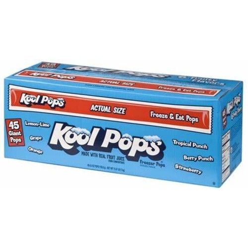 Kool Pops Freezer Pops, Assorted Flavors (45 - 5oz Popsper Box)