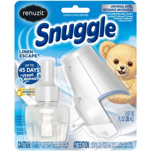 (2 pack) Renuzit Snuggle Scented Oil Refill Air Freshener and Plugin Warmer, Linen Escape, 2 total