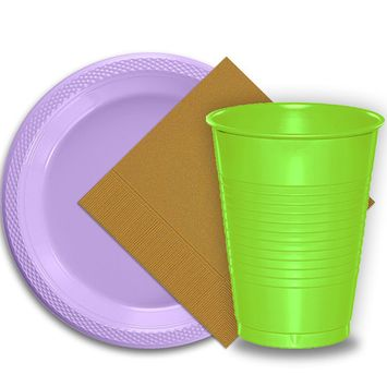 50 Lavender Plastic Plates (9