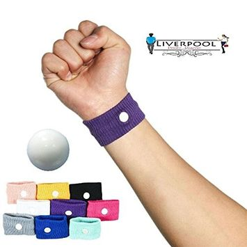 Pair of acupressure Anti-Nausea Motion Sickness Relief Wristbands (Blue) ★ Great for controlling nausea due to morning sickness, motion sickness or chemotherapy ★ 8 colors ★ nausea relief bracelet