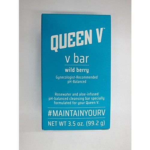 Queen V The Ph-balance Rosewater & Aloe Cleansing Bar, Wild Berry, 3.5 oz