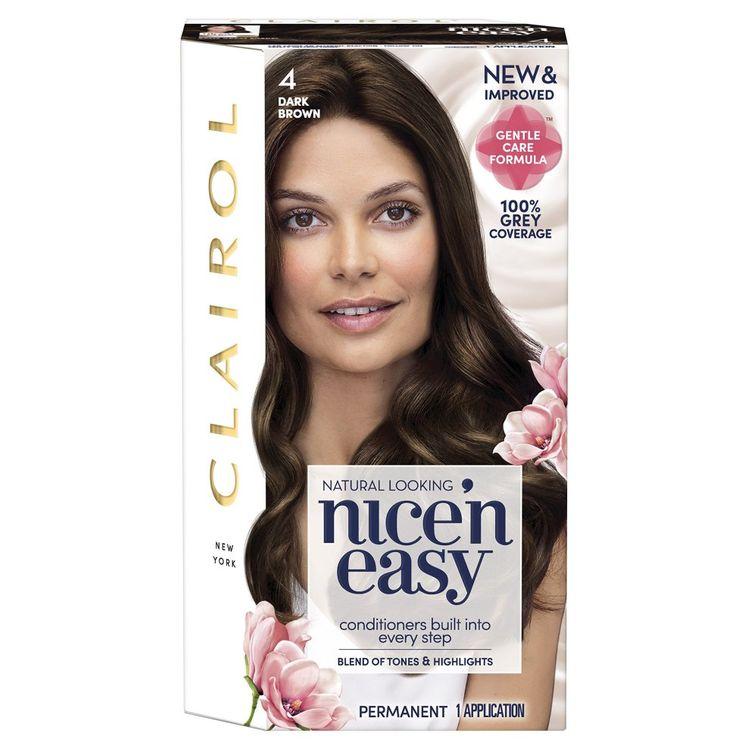 Clairol Nice' N Easy Permanent Women's Hair Colour Dye - Shade 4 - Dark Brown