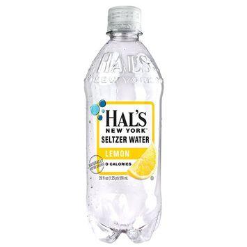 Hal's New York Seltzer Water 20 Oz (12 Pack) (Lemon)
