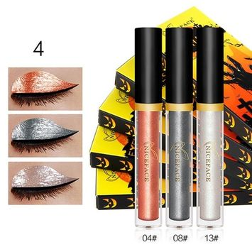 Creazy Halloween Style Metallic Smoky Eyeshadow Waterproof Glitter Liquid Eyeliner