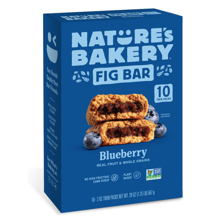 Nature's Bakery Blueberry Fig Bars, 10 Twin Packs, 2 Oz each